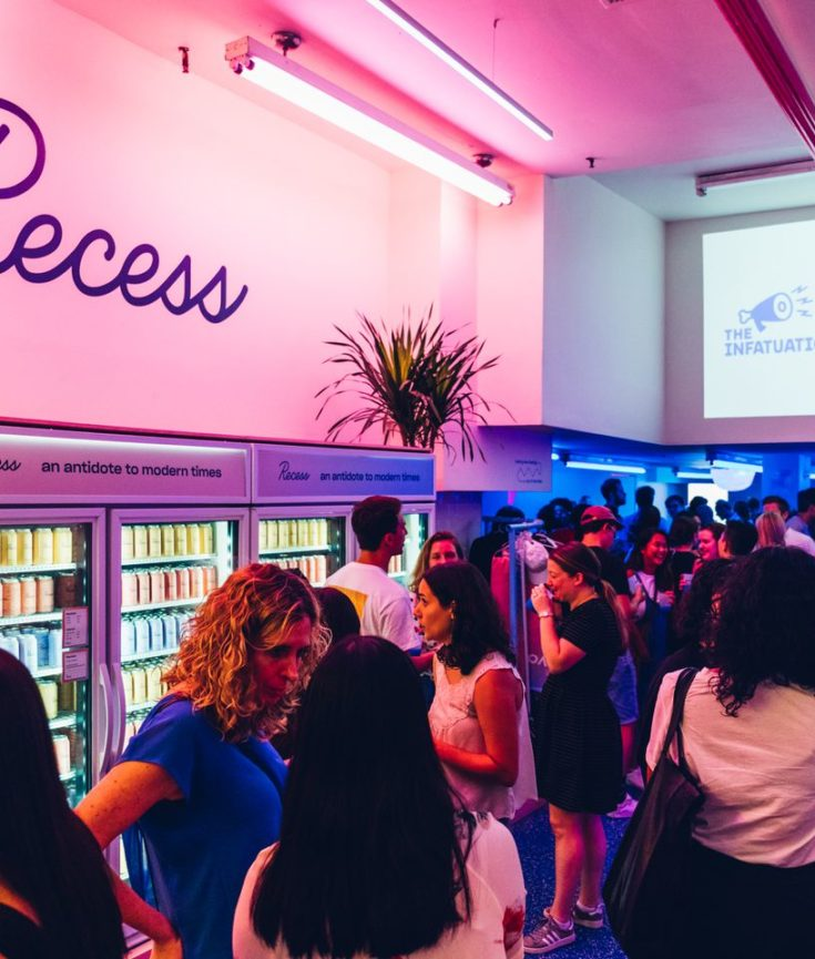 A Recess pop-up.Courtesy of Recess